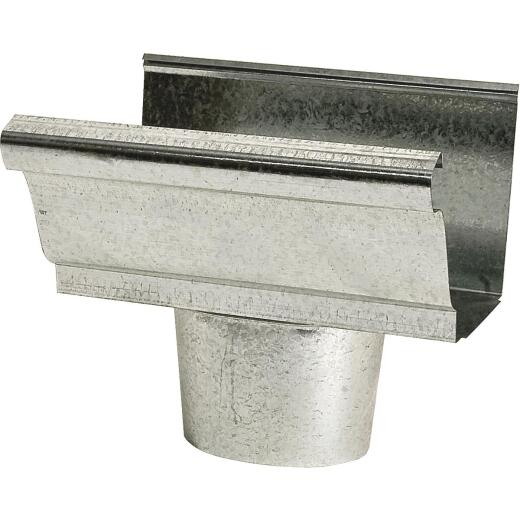 NorWesco 4 In. K Style Steel Oval Gutter Drop Outlet