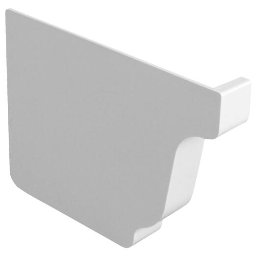 Repla K 5 In. Vinyl White Left Gutter End Cap
