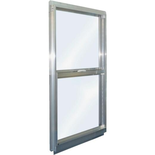 Croft Series 90 31 In. W. x 47 In. H. Mill Finish Aluminum Single Hung Window