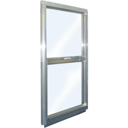 Croft Series 90 31 In. W. x 35 In. H. Mill Finish Aluminum Single Hung Window