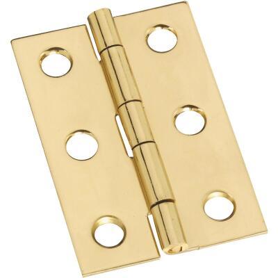 National 1-3/8 In. x 2 In. Brass Medium Decorative Hinge (2-Pack)