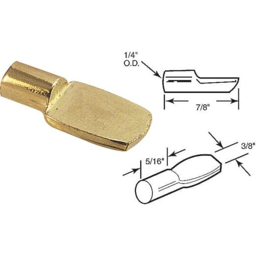 Prime-Line 1/4 In. Brass Spoon-Style Shelf Support Peg (8-Count)