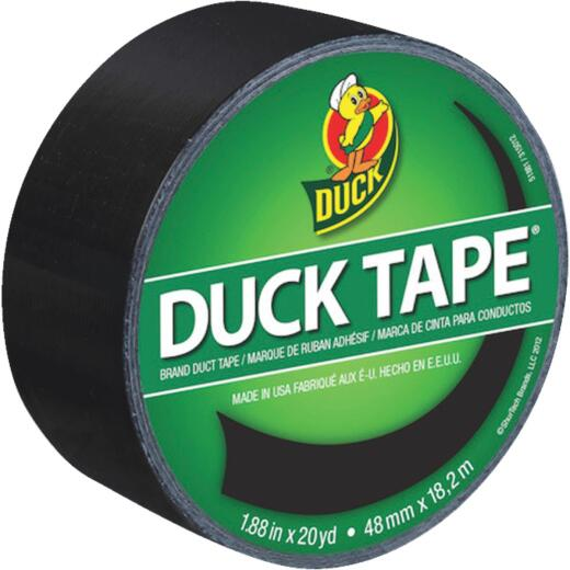 Duck Tape 1.88 In. x 20 Yd. Colored Duct Tape, Black