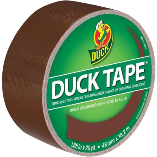 Duck Tape 1.88 In. x 20 Yd. Colored Duct Tape, Brown