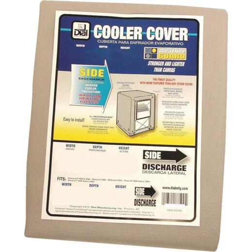 Dial 37 In. W x 37 In. D x 45 In. H Polyester Evaporative Cooler Cover, Side Discharge