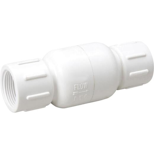 ProLine 1-1/4 In. PVC Schedule 40 Spring Loaded Check Valve
