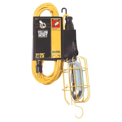 Yellow Jacket 75W Incandescent Trouble Light with 25 Ft. Power Cord