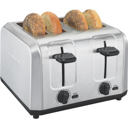 Hamilton Beach 4-Slice Brushed Stainless Steel Toaster