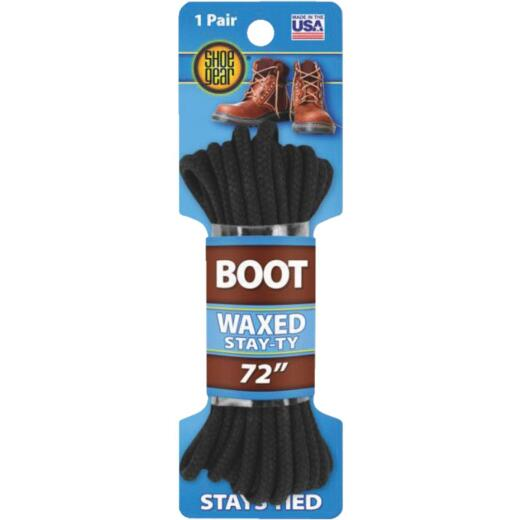 Shoe Gear Waxed 72 In. Round Boot Laces