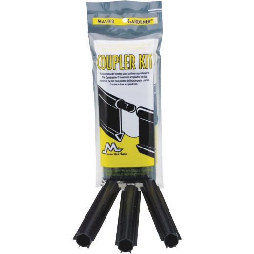 Master Mark Master Gardener Straight Black Plastic Contractor Lawn Edging Coupler (3-Pack)