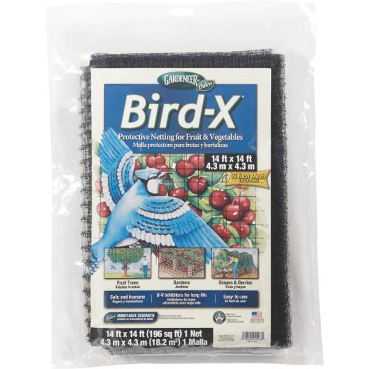 Bird X 3/4 In. Mesh 14 Ft. x 14 Ft. Garden Netting