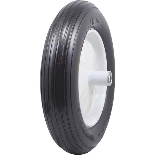 Marathon 16 x 480/400-8 In. Flat Free Wheelbarrow Wheel