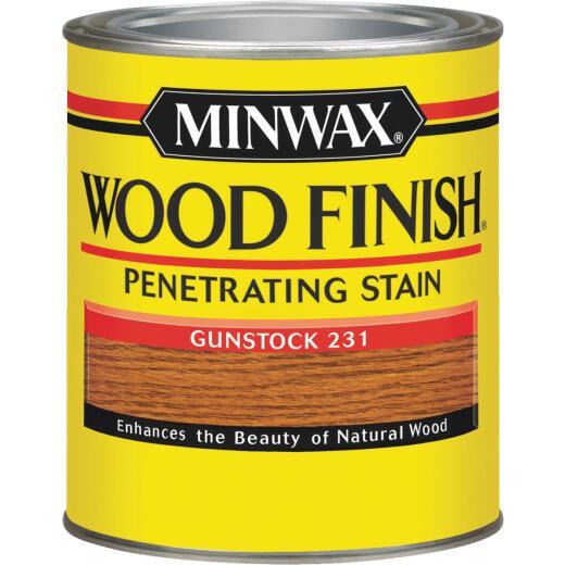 Minwax Wood Finish Penetrating Stain, Gunstock, 1 Qt.