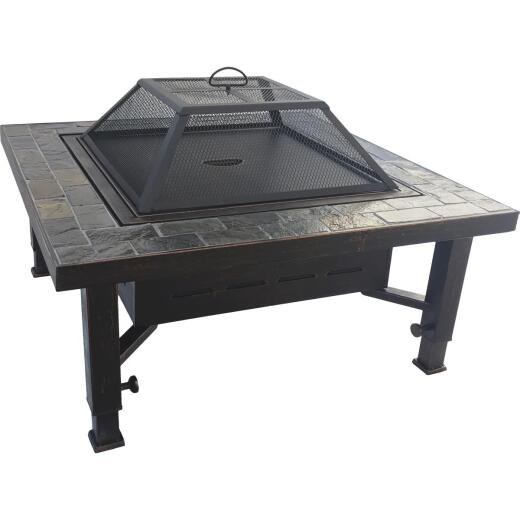 Summit Design 34 In. Square Steel Fire Pit
