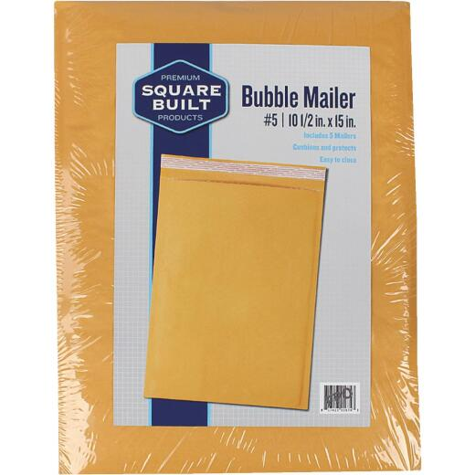 Square Built 10.5 In. x 15 In. #5 Bubble Mailer (5-Pack)
