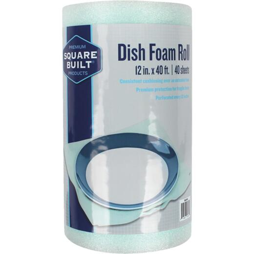 Square Built 12 In. x 40 Ft. Dish Foam Wrap (40 Sheets)